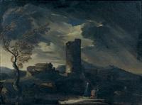 pêcheurs sous un ciel d'orage by pieter mulier the younger