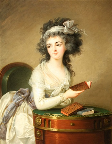 portrait of a lady reading by elisabeth louise vigée le brun