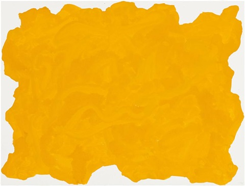 untitled yellow blob by sol lewitt