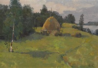 summer haystack by mark kremer