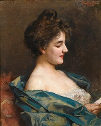 portrait of a parisian lady by paul de laboulaye