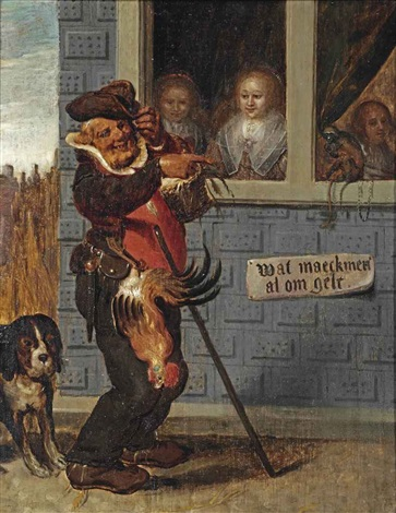 wat maeckmen al om gelt what one does for money by adriaen pietersz van de venne