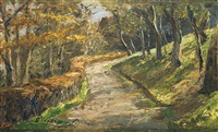 weg im vorfrühling (pathway in early spring) by olga wisinger-florian