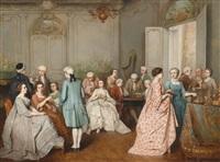 elegante gesellschaft by benjamin eugène fichel