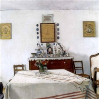 szolnoki tisztaszoba (living room in a peasant house in szolnok) by pál jávor
