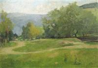 landscape by honorius cretulescu