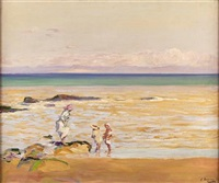 the beach by john lavery