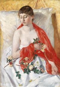 gelbe rosen by philip lodewijk jacob frederik sadée