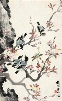 桃花小鸟 by lin yushan
