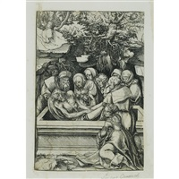the entombment (from the passion) by lucas cranach the elder