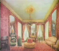 interior of a drawing room, rue de rivoli, paris by fanny holden