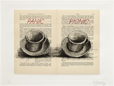 panic picnic from sleeping on glass by william kentridge