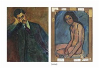 jean alexandre (recto); nu assis (verso; see note) by amedeo modigliani