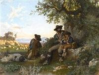 musicians in the roman campagna by arnoldo corrodi