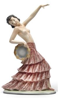 tänzerin mit tambourin by stefan dakon
