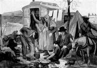 gypsy camp by frederick george austin