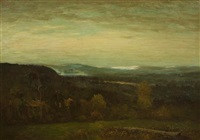 view over the valley by homer dodge martin
