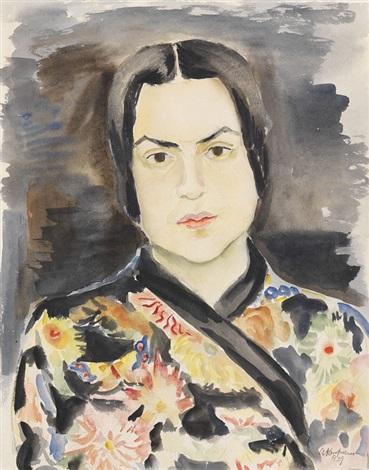 bildnis einer dame im kimono by arthur kaufmann