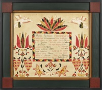 fraktur for maria heilman by abraham huth