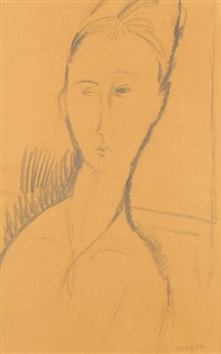 portrait de jeanne by amedeo modigliani