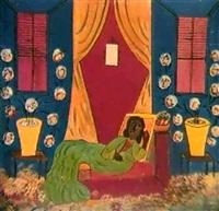 la dame en vert by hector hyppolite