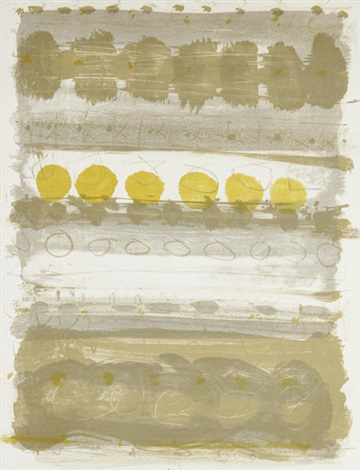 brown and grey stripes by patrick heron