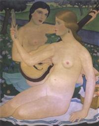 aktok szabadban (nudes outdoors) by elemér kézdi-kovács