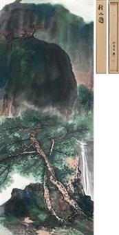 秋山图 by xie zhiliu
