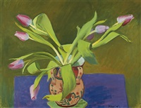 stillleben mit tulpen by albert pfister