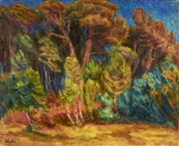 paysage de provence by eugène ebiche