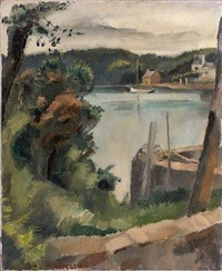 berges de lac by maurice asselin
