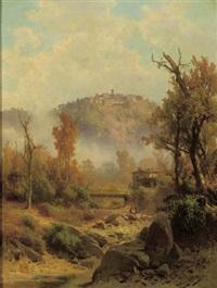a view of certaldo, tuscany by guido agostini