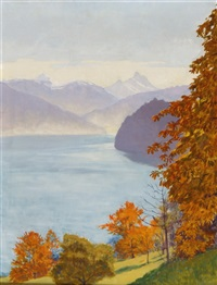 herbst am see by plinio colombi