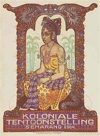 koloniale tentoonstelling, 1914 by albert pieter hahn
