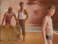 figures on the beach by frank jeffrey edson smart