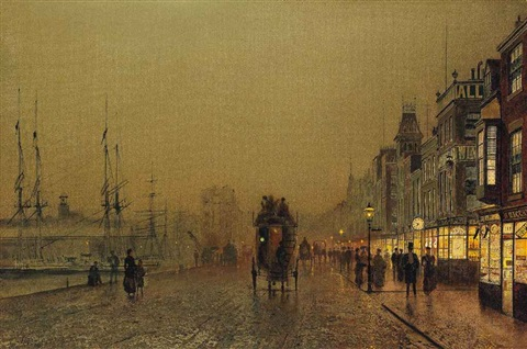 glasgow saturday night by john atkinson grimshaw