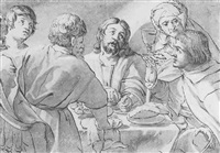 supper at emmaus by willem isaaksz swanenburgh the elder