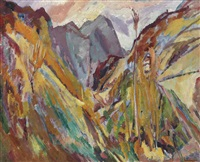 the slopes of navao, picos de europa by david bomberg