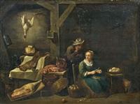 préparation du repas dans la cuisine by thomas van apshoven