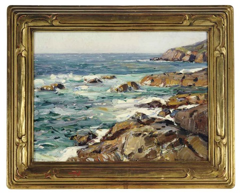 sea and rocks by george gardner symons