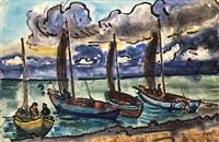 boote am strand by erhard hippold