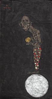 homme sur une sphère argentée by sabhan adam