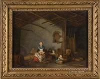 intérieur de ferme animé by jacques-albert senave