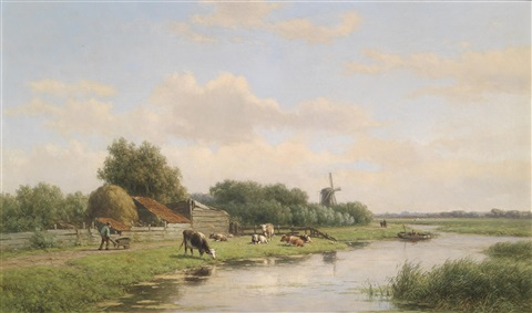 holländische landschaft by willem vester