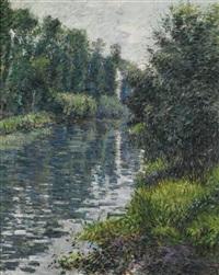 le petit bras de la seine, argenteuil by gustave caillebotte