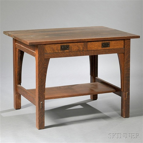 Arts Crafts Library Table By Gustav Stickley On Artnet