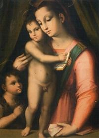 vierge à l'enfant et saint jean-baptiste by rafaello piccinelli