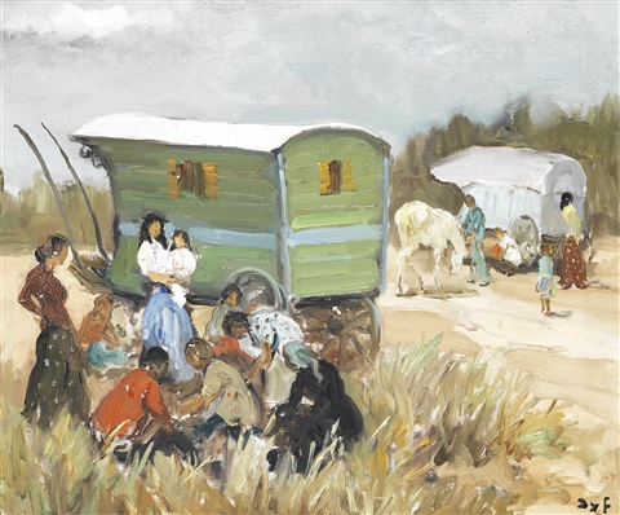 la halte des gitans by marcel dyf