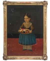 niña con charola con fruta by horacio rentería rocha