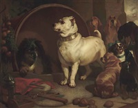 alexander and diogenes (after sir edwin henry landseer) by john lewis reilly